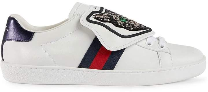 8da7aeef52e Women Gucci Ace Sneaker With Removable Patches - ShopStyle