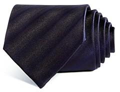 Giorgio Armani Tonal Stripes Silk Wide Tie