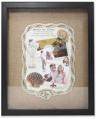 "Lawrence Frames Black Front Hinged Shadow Box Frame - Burlap Display Board - 11"" x 14"""
