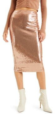 INC International Concepts Culpos X Inc Sequin Pencil Skirt, Created for Macy's