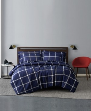 Truly Soft Printed Windowpane 3 Piece Duvet Cover Set, Full/Queen Bedding