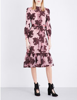 Co Rose Jacquard Dress