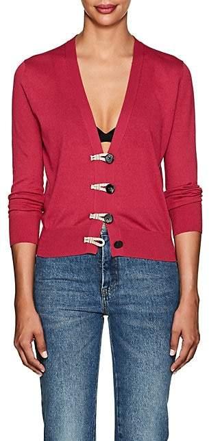 Altuzarra Women's Button-Detailed Silk-Cotton Cardigan - Fuchsia