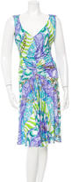 Blumarine Printed V-Neck Dress