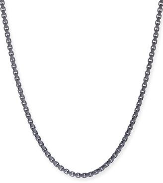 "David Yurman Men's Acrylic-Coated Stainless Steel Box Chain, Gray, 26"""