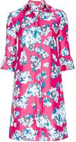 Diane von Furstenberg Philippa Mikado Ruffle Sleeve Coat