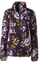 Lands' End Women's Petite Primaloft Packable Jacket-Raisin Floral