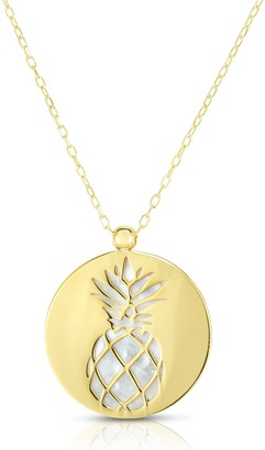 Sphera Milano 14K Yellow Gold Mother of Pearl Pineapple Pendant Necklace