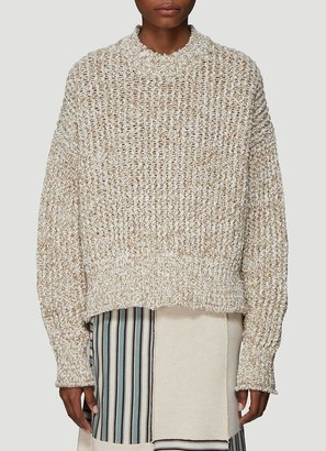 Jil Sander Chunky Knit Crewneck Sweater