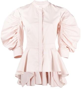 Alexander McQueen Ruffle-Detail Long-Sleeve Shirt