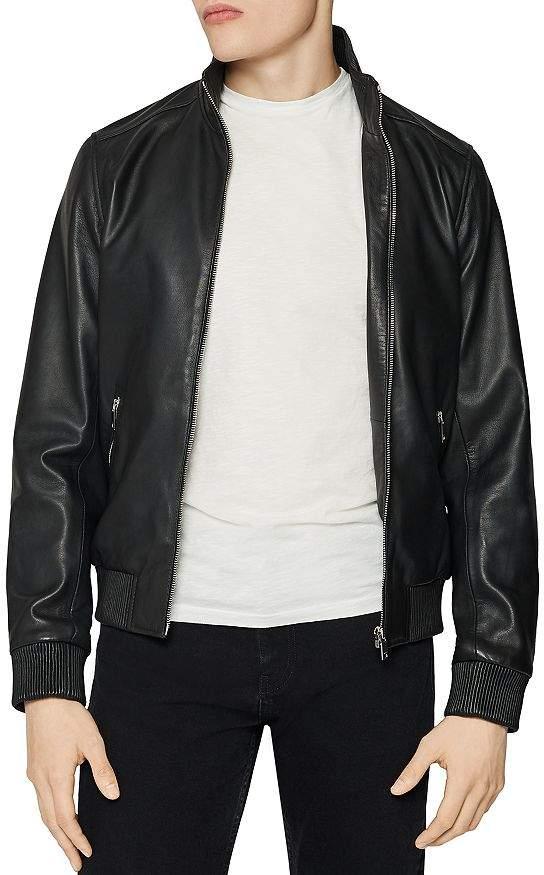 Harris Leather Bomber Jacket
