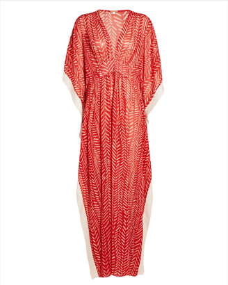 Johanna Ortiz Seychelles Printed Georgette Maxi Dress