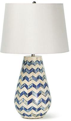 REGINA ANDREW Coastal Living Cassia Table Lamp - Blue