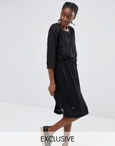 Monki Exclusive Pleat Detail Dress
