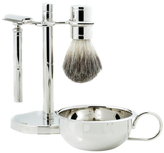 Bey-Berk Safety Razor & Pure Badger Brush with Soap Dish on Stand (4 PC)