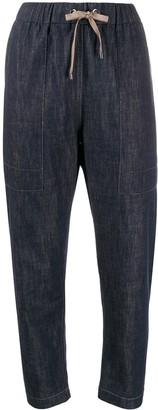 Brunello Cucinelli denim tapered trousers