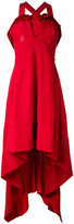Twin-Set high-low dress - women - Linen/Flax/Acetate/Viscose - 40