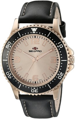 Seapro Men's SP5314 Analog Display Quartz Black Watch