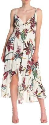 BAILEY BLUE Floral High/Low Ruffle Midi Dress