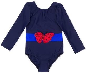 Mini Rodini Butterfly-Appliquee Swimsuit