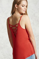 Forever 21 FOREVER 21+ Lace-Up Strappy Cami