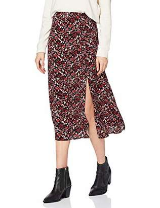 New Look Women's Archie Floral Side Split MIDI Skirt,(Size:)