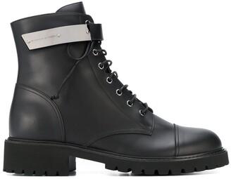 Giuseppe Zanotti Strapped Combat Boots