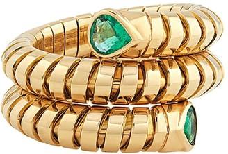 MARINA B 18kt yellow gold Trisola emerald ring