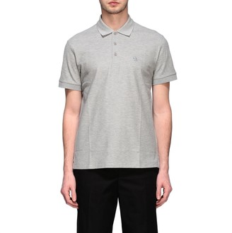 Burberry Short-sleeved Polo Shirt With Tb Logo