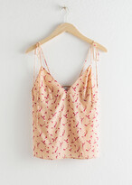 And other stories Lyocell Tie Shoulder Tank Top
