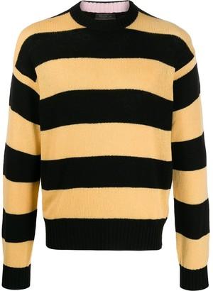 Prada Striped Cashmere Jumper