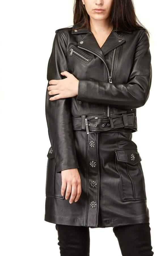 Michael Kors Classic Leather Moto Jacket