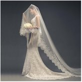 AliceHouse Women's 1 Tier Flower lace Cathedral Chapel Wedding Veils 11068