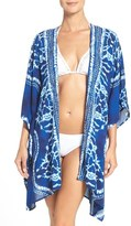 LaBlanca La Blanca 'Moody Blues' Tie-Dye Cover-Up Kimono