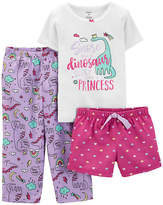 CARTERS Carter's 3-pc. Pant Pajama Set Baby Girls