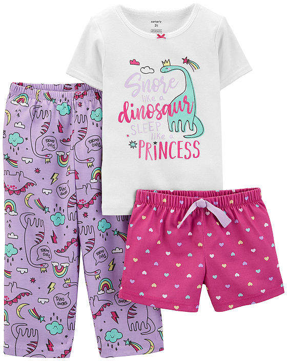 Carter's 3-pc. Pant Pajama Set Baby Girls