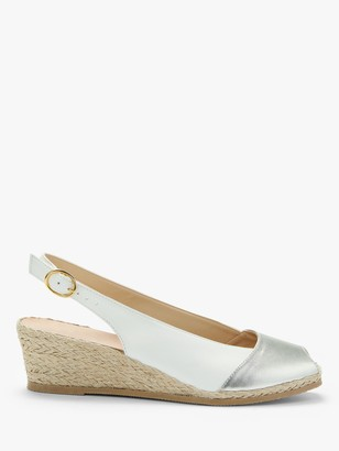 John Lewis & Partners Kaela Leather Wedge Heel Slingback Sandals