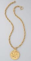 Wgaca Vintage Vintage Chanel CC Round Pendant Necklace