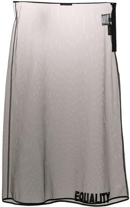 Versace Equality embroidered sheer skirt