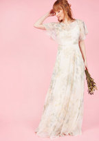 Jenny Yoo Afloat on Flawlessness Maxi Dress in Ivory in 8