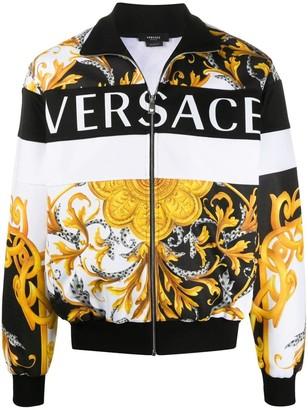 Versace Iconic Mixed Prints Bomber Jacket