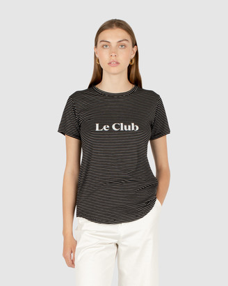 Cools Club - Women's Black Basic T-Shirts - Le Club Classic Tee - Size One Size, 10 at The Iconic