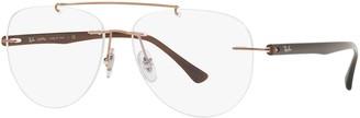 Ray-Ban Men's Rx8749 Aviator Titanium Eyeglass Frames Prescription Eyewear