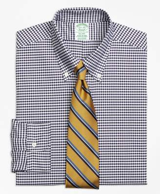 Brooks Brothers Original Polo Button-Down Oxford Milano Slim-Fit Dress Shirt, Gingham