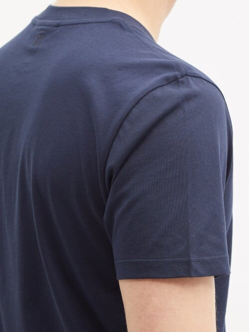 Thumbnail for your product : Ami De Cur-logo Organic-cotton Jersey T-shirt - Navy