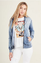 True Religion Bleach Splatter Womens Hoodie