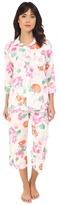 Lauren Ralph Lauren Cotton Lawn 3/4 Sleeve Capris Pajama Set