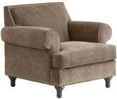 Pier 1 Imports Carmen Taupe Chenille Armchair