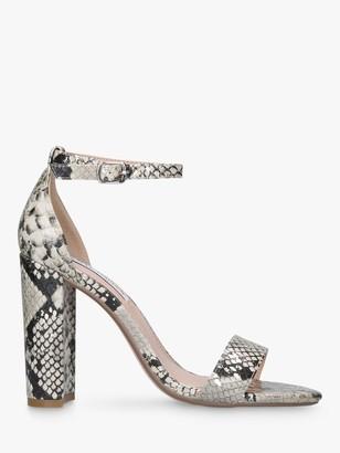 Steve Madden Carrson Two Part Suede Block Heel Sandals, Multi