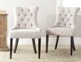 The Well Appointed House Gigi Beige Linen Tufted Dining Side Chair -Set of Two